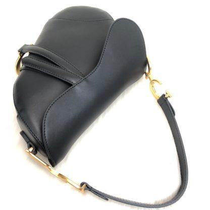 christian dior canta Saddle Calfskin siyah 25x20x6 hakiki dana derisi