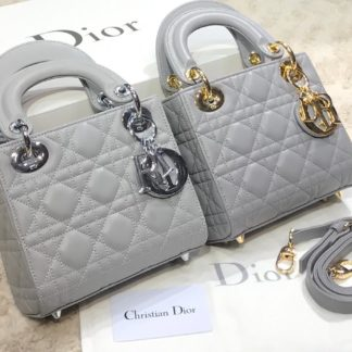 christian dior canta mini lady gri
