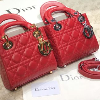 christian dior canta mini lady kirmizi