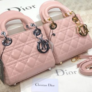 christian dior canta mini lady pembe