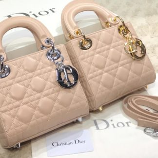 christian dior canta mini lady pudra