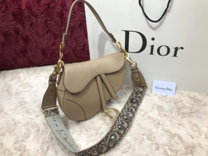 christian dior canta saddle suni deri askili 25x20x6 vizon