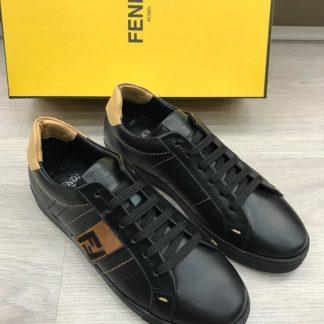 fendi ayakkabi sneakers siyah kahve baskili tam kalip