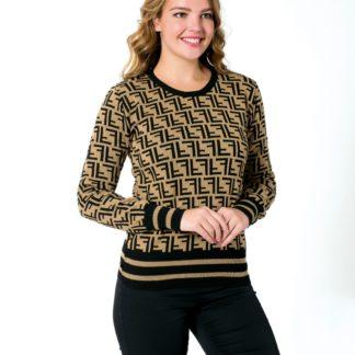 fendi sweatshirt triko logo baskili camel