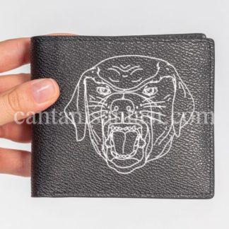 givenchy cuzdan erkek kopek desenli siyah