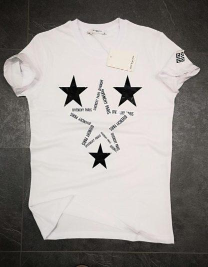 givenchy tshirt unisex yildizli beyaz