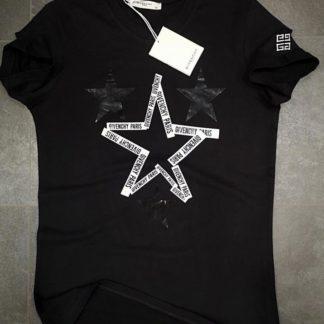 givenchy tshirt unisex yildizli siyah