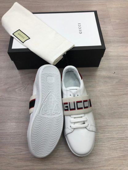 gucci Ayakkabi sneakers baskili beyaz tam kalip