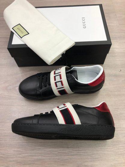 gucci Ayakkabi sneakers baskili siyah tam kalip