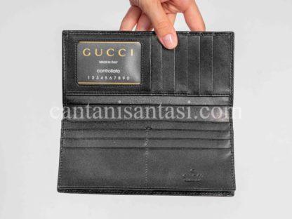 gucci cuzdan erkek duz siyah gg logo