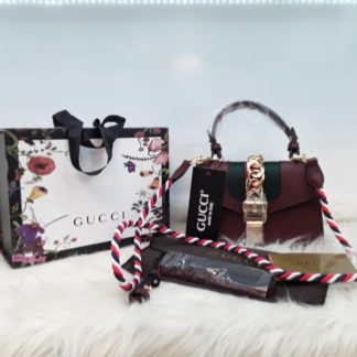gucci suni deri canta sylvie mini boy cift askili bordo 20x14