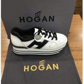 Hogan Ayakkabi siyah beyaz serit