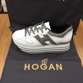 Hogan Ayakkabi yuksek topuk beyaz gri