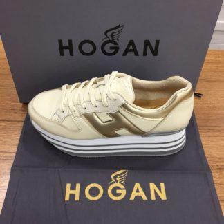 Hogan Ayakkabi yuksek topuk gold beyaz