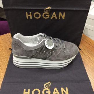 Hogan Ayakkabi yuksek topuk gri tasli