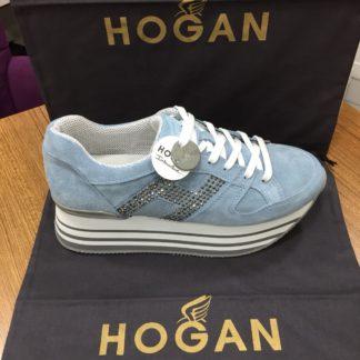 Hogan Ayakkabi yuksek topuk mavi gri