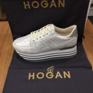 Hogan Ayakkabi yuksek topuk parlak gri