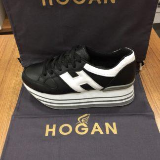 Hogan Ayakkabi yuksek topuk siyah beyaz