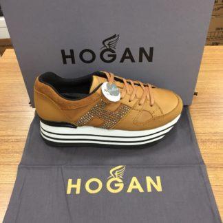 Hogan Ayakkabi yuksek topuk taba
