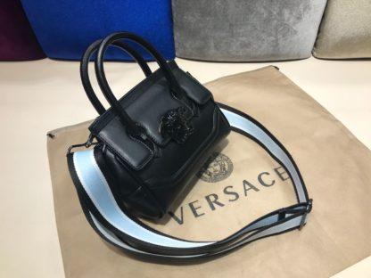 versace canta suni deri palazzo mini boyut capraz askili siyah 22x19