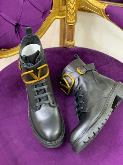 Valentino ayakkabi siyah bot