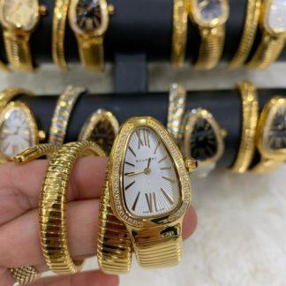bvlgari saat beyaz gold tasli