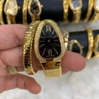 bvlgari saat gold tasli siyah