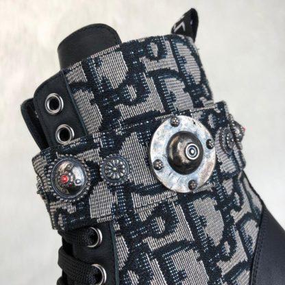 christian dior ayakkabi Oblique bot siyah