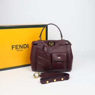 fendi canta peekaboo mini bordo ithal 23x18