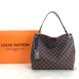 louis vuitton canta Graceful Pm damier kahve Simetrik kesim 30x30 cm