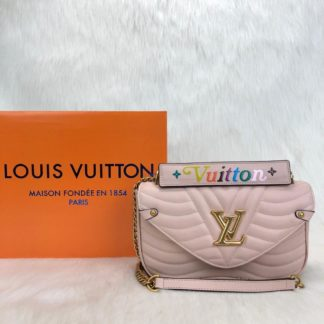 louis vuitton canta New Wave pudra pembe 25x15cm