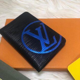 louis vuitton kartlik siyah epi mavi logo