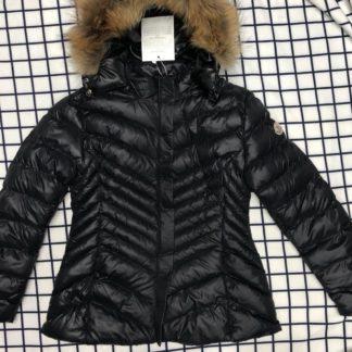 moncler mont mat siyah zigzag kapuson