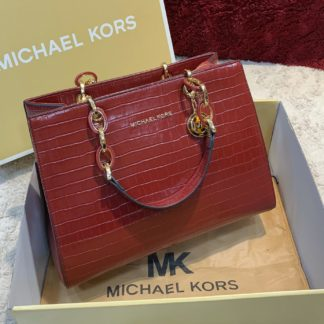 michael kors canta bordo crocodile