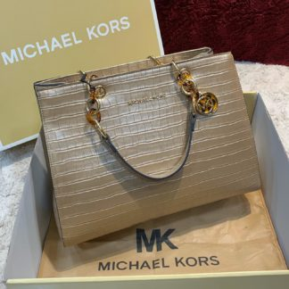 michael kors canta gold crocodile
