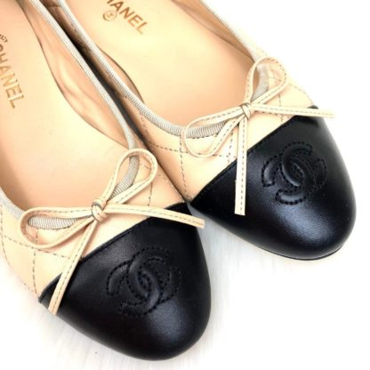chanel ayakkabi balerinas babet kapitone nude