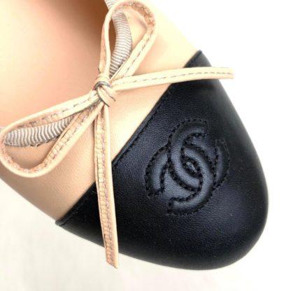 chanel ayakkabi balerinas babet kipotone