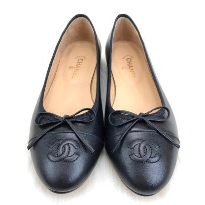 chanel ayakkabi balerinas siyah babet