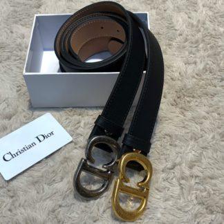 christian dior kemer siyah silver toka logo baski 3cm