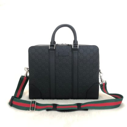 gucci canta supreme briefcase siyah laptop