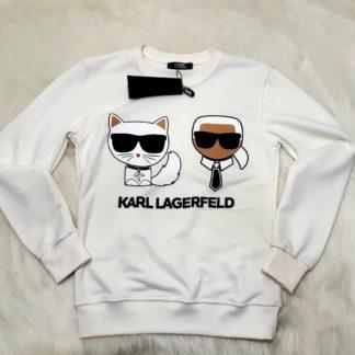 karl lagerfeld sweatshirt beyaz iconic