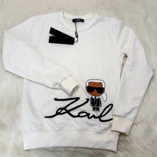 karl lagerfeld sweatshirt beyaz standart kalip