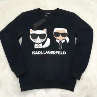 karl lagerfeld sweatshirt siyah karl