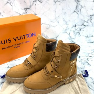 louis vuitton ayakkabi creeper ankle bot suet taba