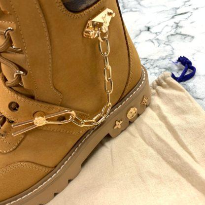 louis vuitton ayakkabi creeper ankle bot suet taba