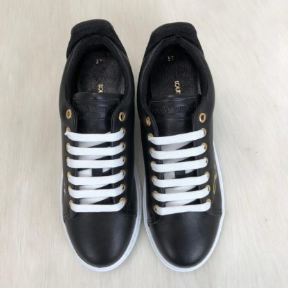 louis vuitton ayakkabi timeout sneaker siyah deri taban 4cm