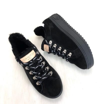 louis vuitton ayakkabi timeout sneaker siyah suet deri taban 4cm