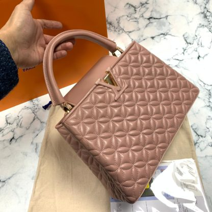 louis vuitton canta capucines PM pudra pembe 32x21x11 ithal