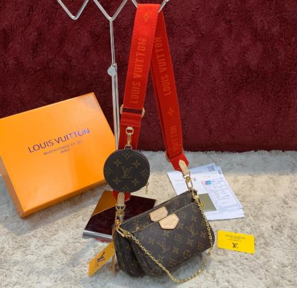 louis vuitton canta multi pochette kirmizi askili