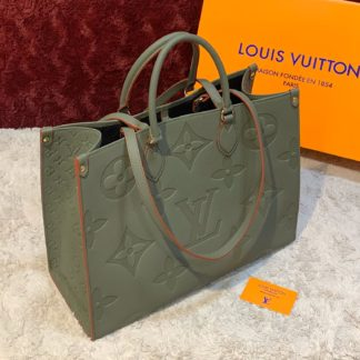 louis vuitton canta on the go  yesil 41x34 ithal